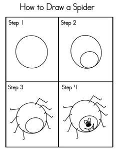 How To Draw A Spider …  Pinteres…