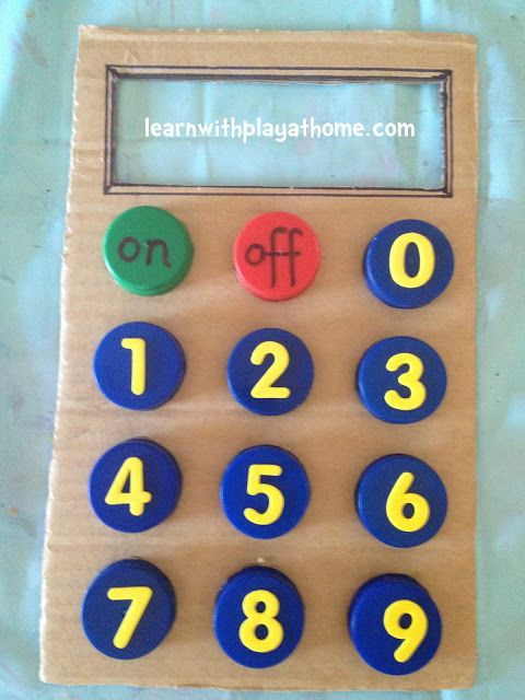 Bottle Top Calculator Number Writing And Recognition Playful