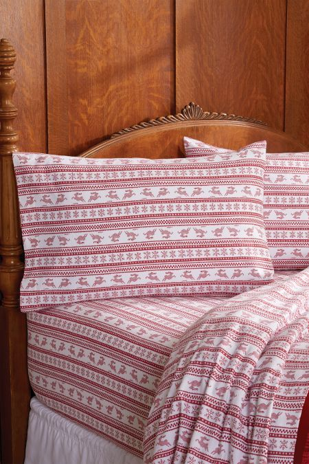 Lanz of Salzburg Fair Isle Flannel Sheet Set   our house is a very ...