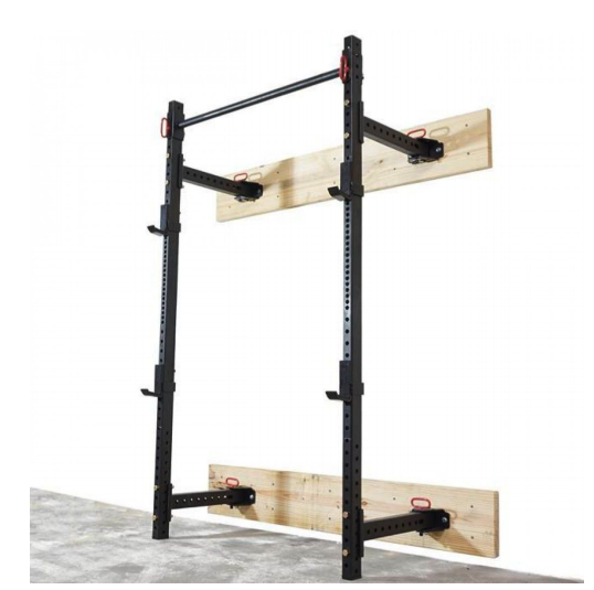 Foldable Wall Mounted Rack Perfect Gym Solutions In 2020 Squat Rack Diy Diy Home Gym Wall Mount Rack
