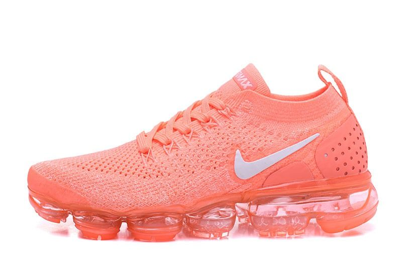da8d5806fe1 Cheap Sale Nike Air VaporMax 2018 Flyknit 2.0 OW Salmon Orange Pink Women