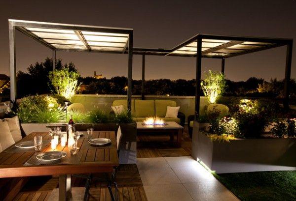 illuminazione-terrazzo-atmosfera | TERRAZZA | Pinterest | Outdoor ...