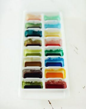 Love The Ice Cube Tray Idea For Making Watercolor Soup Homemade