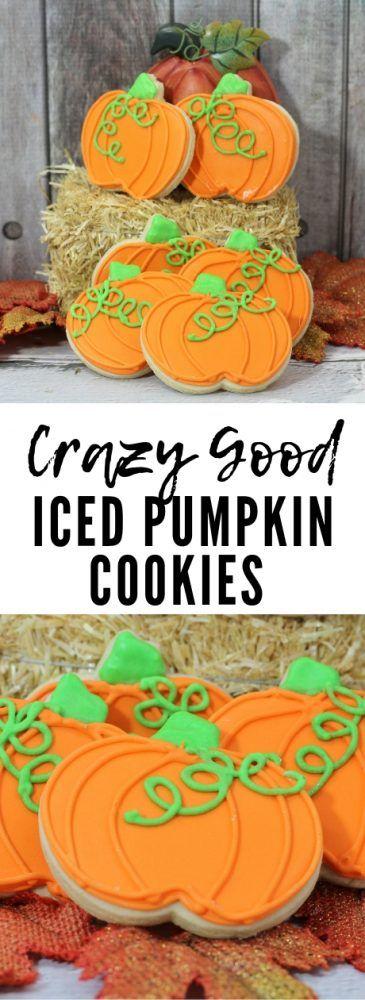 Iced Pumpkin Cookies Recipe #pumpkinshapedcake