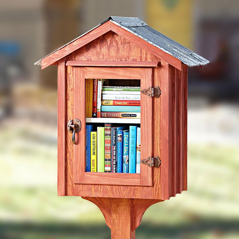 Little Free Library Make Your Own Neighborhood Book Nook With This Woodworking Plan Place Small Depository Along A Nearby Walkway