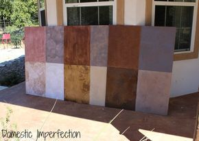 The Paper Flooring Experiment, Part II - Stain Options