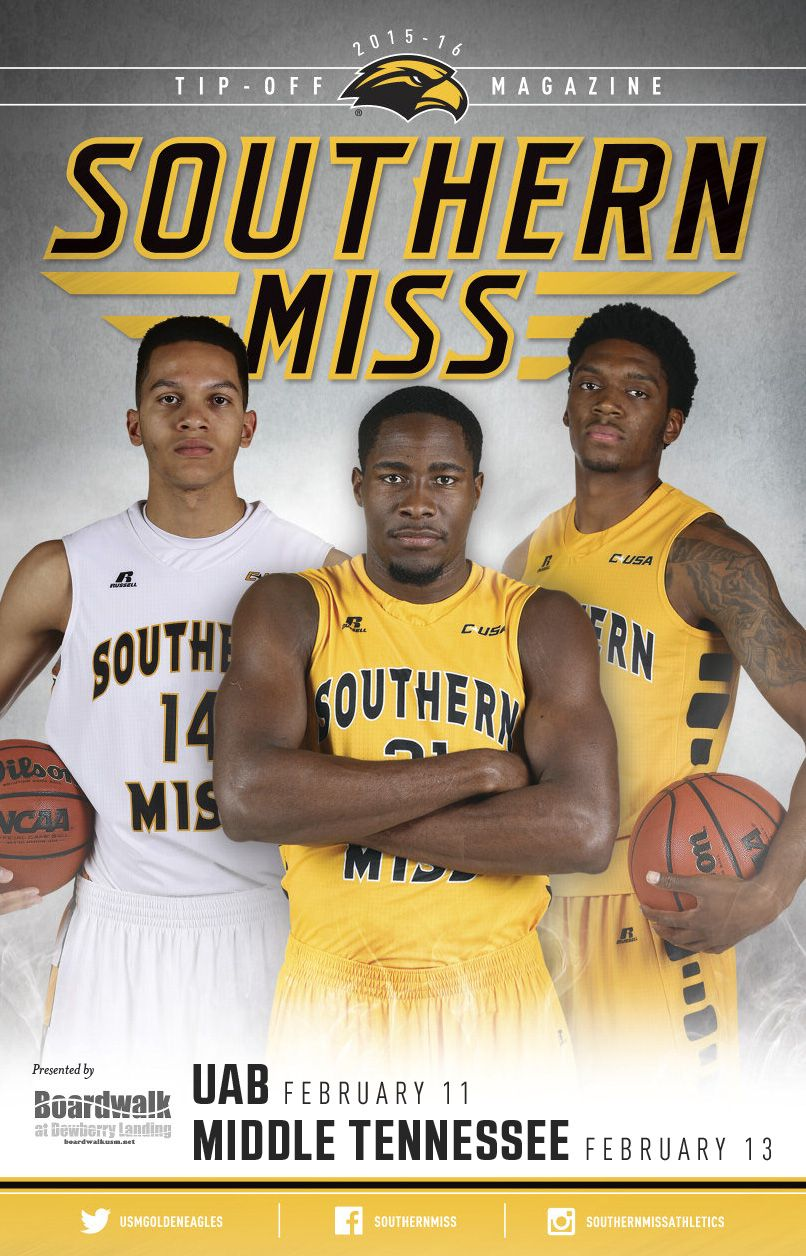The official 201516 Southern Miss Athletics Men's