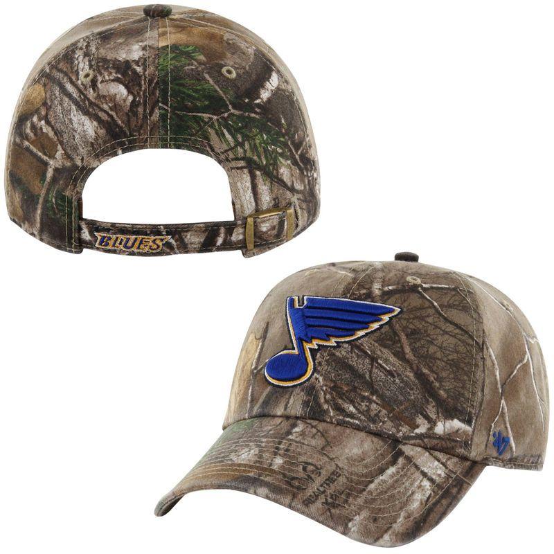 official photos a925c 6da96 ... shopping st. louis blues 47 brand clean up adjustable hat realtree camo  0e5d6 0b8f6