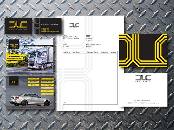 DLC Car Service Branding Pinterest - car service invoice
