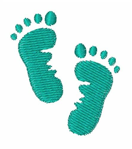 Baby feet embroidery design, baby boy embroidery, embroidery pattern