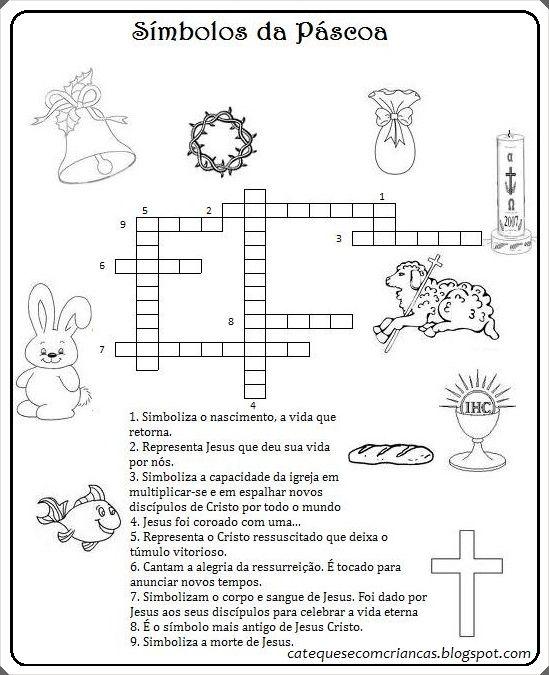 Simbolos Da Pascoa Atividade Para Catequese Pascoa Para