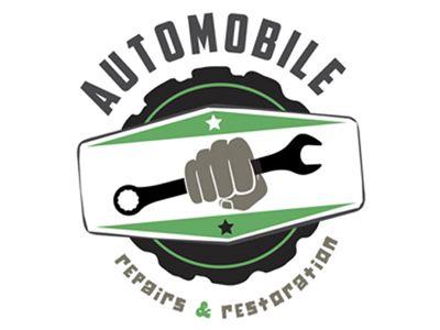 Auto Repair & Restoration Garage Logo   Restoration