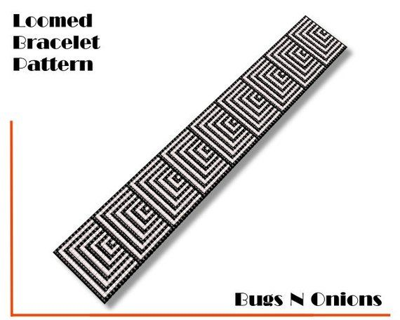 Loom Bead, Black and White Visual Play, Loom Beaded