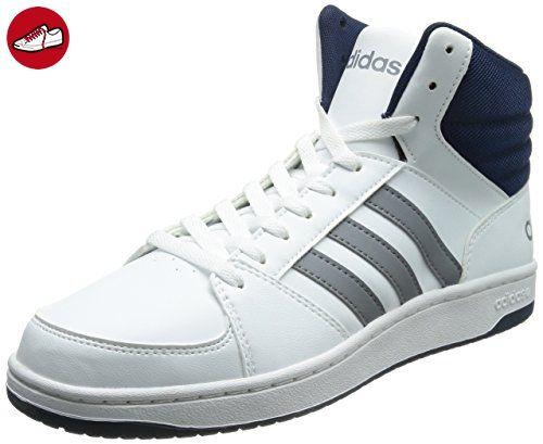 adidas NEO Hoops VS Herren Hohe Sneakers, Blanc - Weiß (White/Grey/