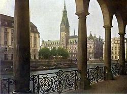 Hamburg 1927, autochrome color photo