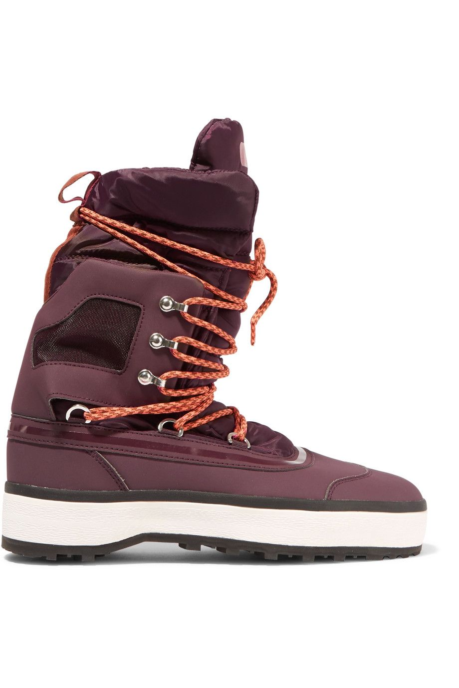 ADIDAS BY STELLA MCCARTNEY Nangator Rubber And Quilted Shell Boots ... : adidas quilted boots - Adamdwight.com