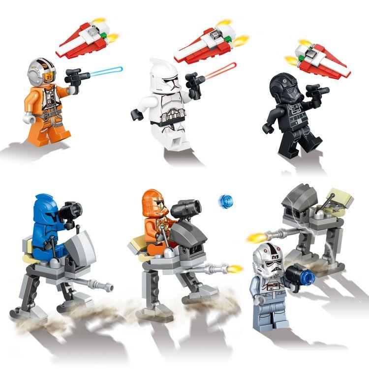 6pcs/lot legoelieds Star Wars The Force Awakens Mini Figure Moive ...