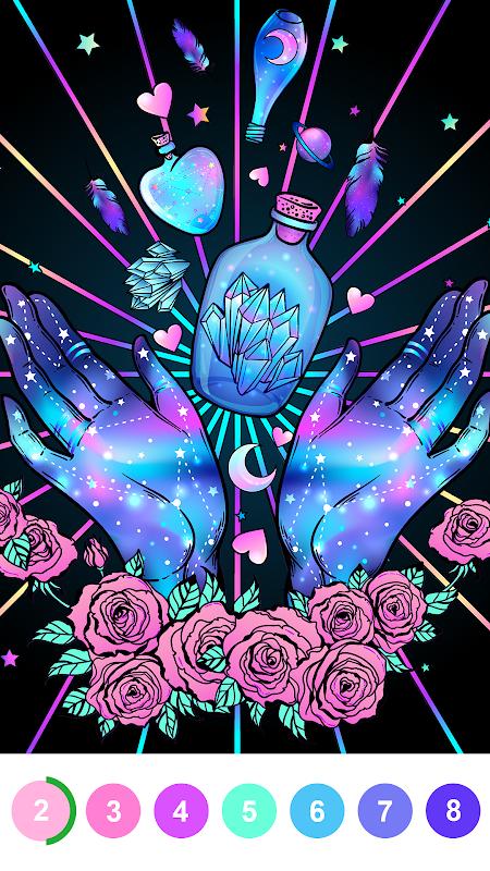 Pintar Por Numero Libro De Colorear Gratis Aplicaciones En Google Play Arte Colorido Psychedelic Art Produccion Artistica