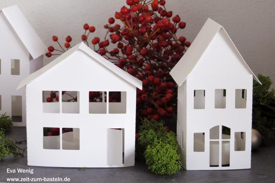 Freebie - leuchtende Häuserdeko -