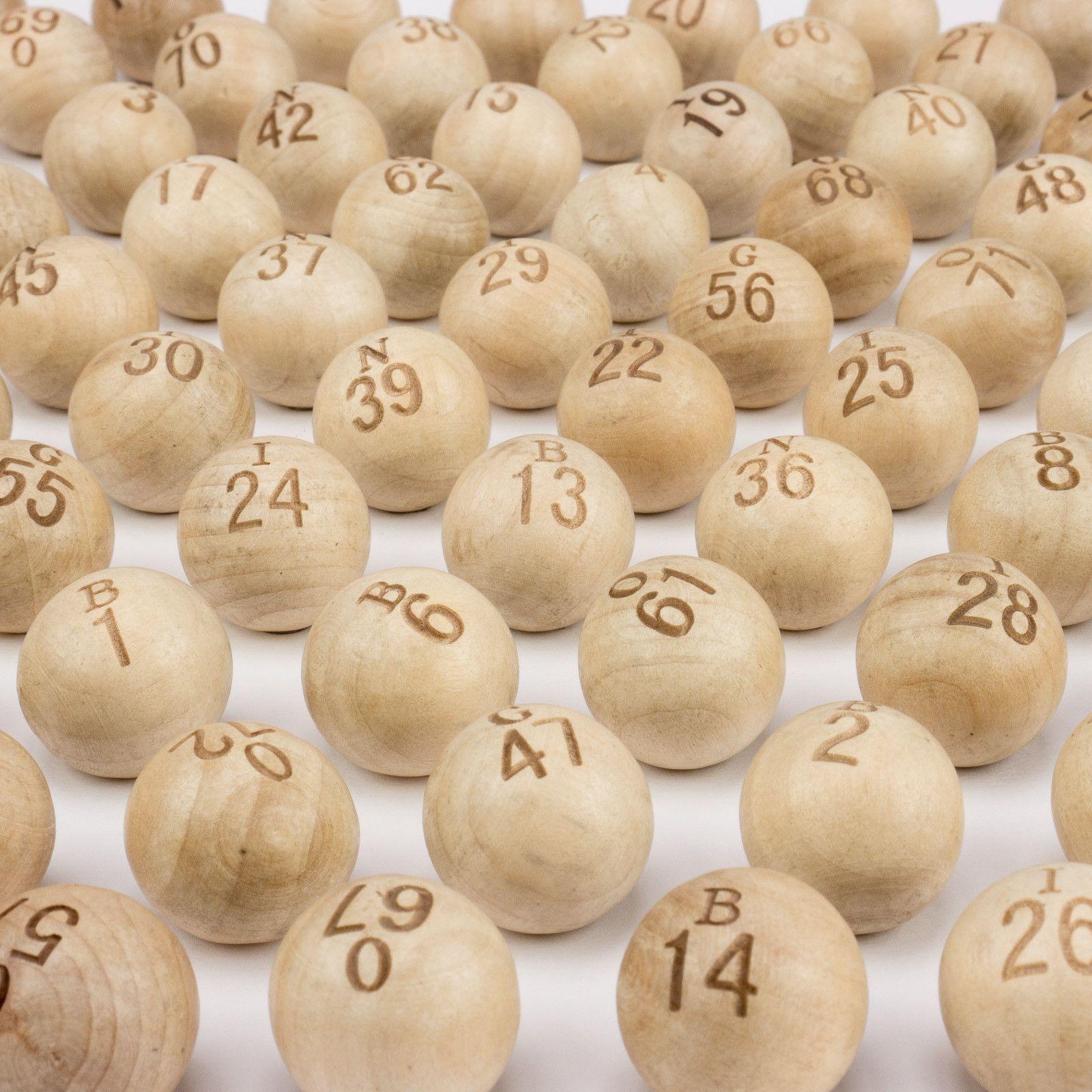 Wooden Bingo Balls Set Of 75 7 8 Inch Wooden Ball Bingo