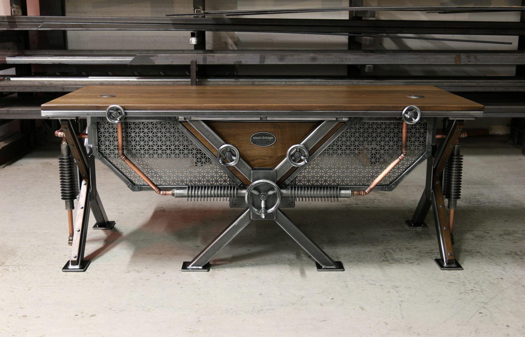 The Steampunk Desk Bespoke Industrial Furniture Steel Vintage