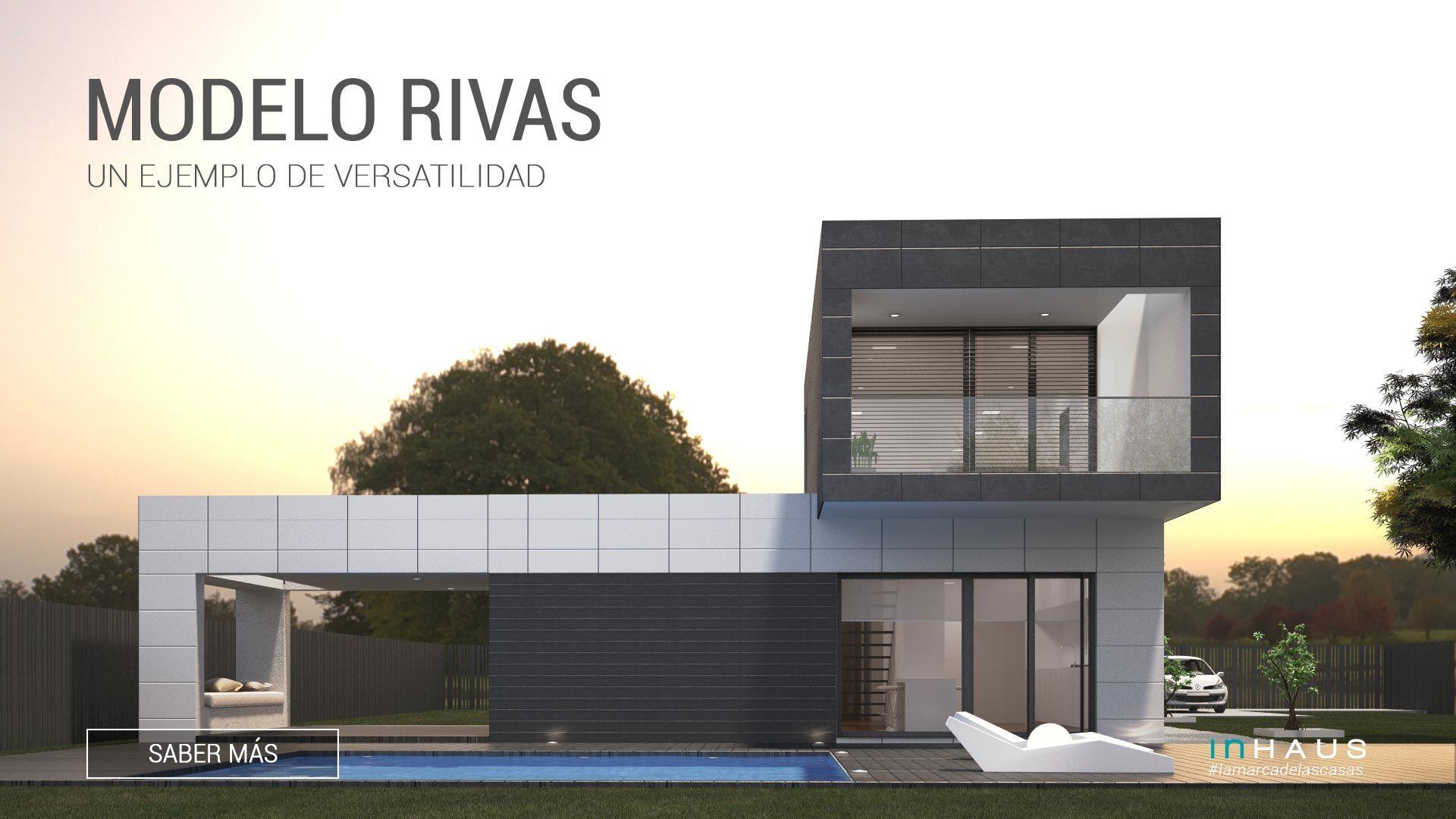 La casa modular de hormig n modelo rivas de casas inhaus cuenta con 4 habitaciones en planta - Vivir en una casa prefabricada ...