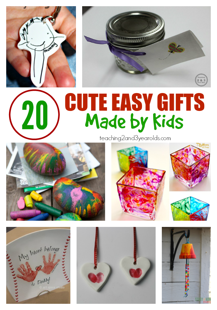 20 Easy Kid Made Christmas Gifts | Kid made christmas ...