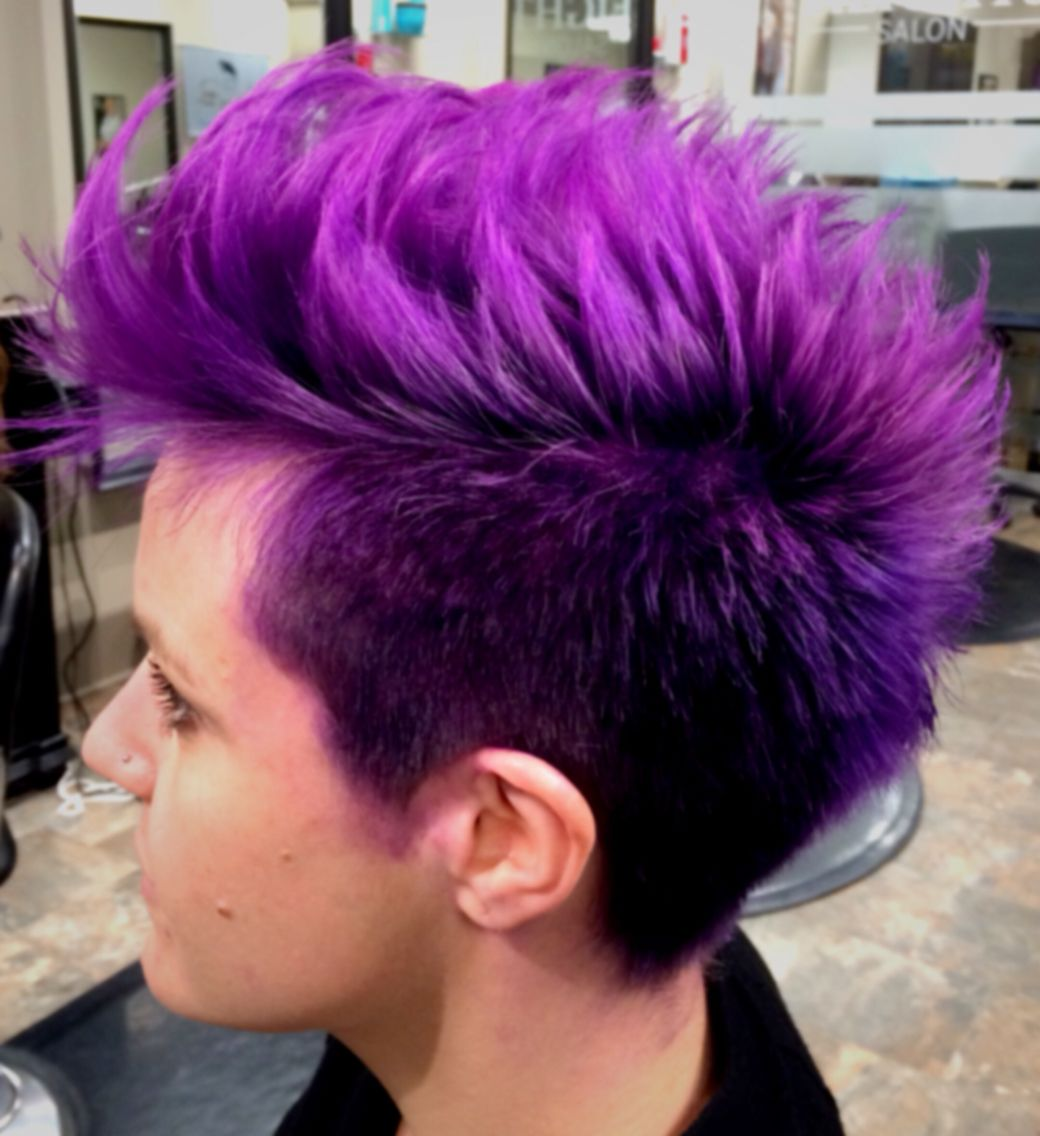 Purple faux hawk  Goldwell elumen
