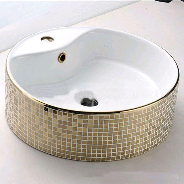 46x46x16cm Customized Europe Gold Plated Ktv Round Wash Basin Countertop Hand Free Shipping Pj4420 823 50 Https Goo Gl Ezi9ma Installation