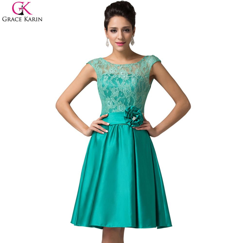 Elegant Short Evening Dresses Sleeveless Satin Lace | Satin, Elegant ...