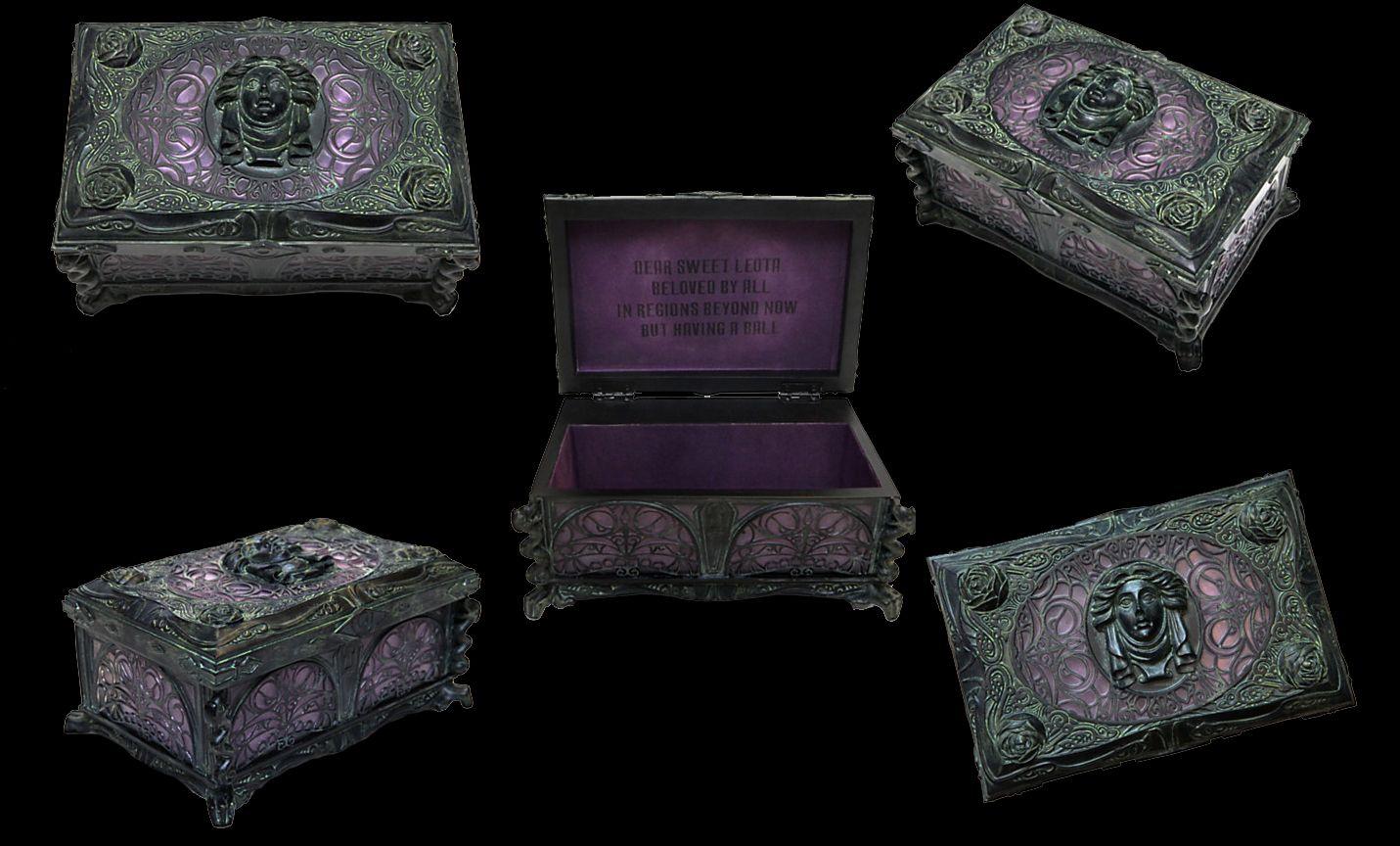 Haunted Mansion Musical Jewelry Box Madame Leota Casket Case Madame
