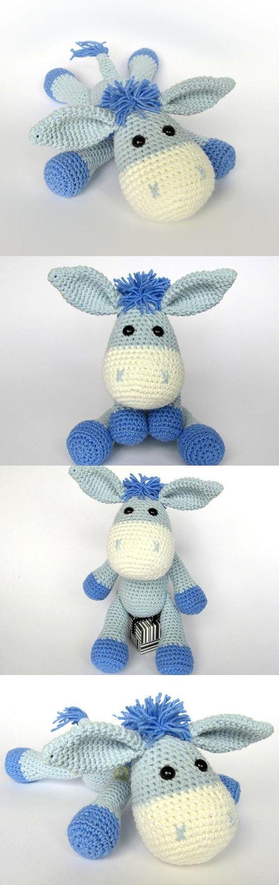Donkey Ruda amigurumi pattern by DioneDesign | Pinterest | Patrones ...