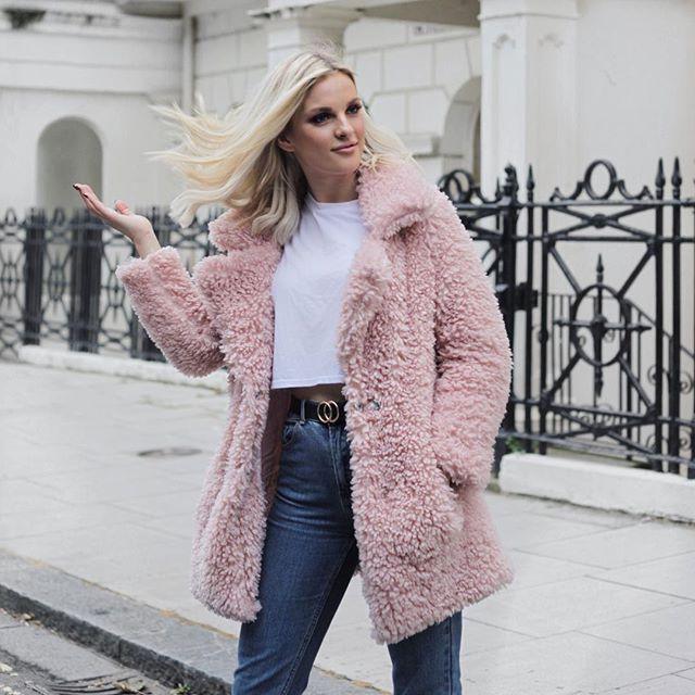Faux Fur Coat Outfit, Pink Teddy Bear Faux Fur Coat