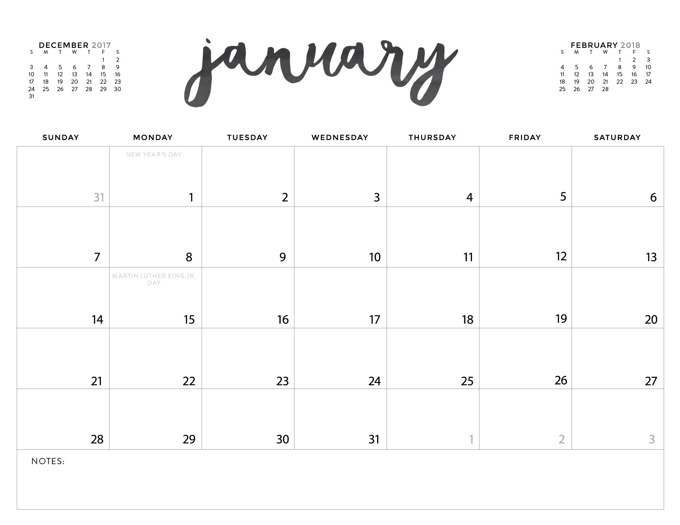 picture about Printable Calendars referred to as Down load your Absolutely free 2018 Printable Calendars nowadays! There are