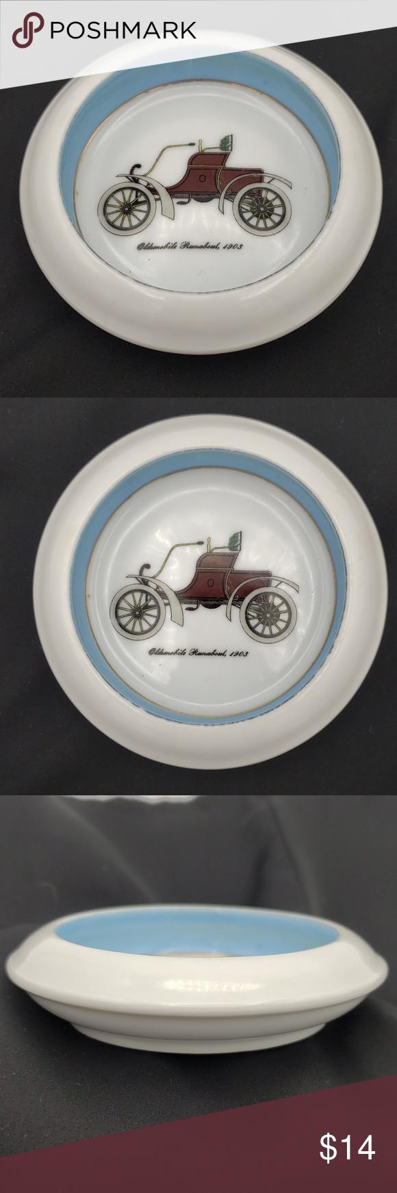 Oldsmobile Runabout 1903 Classic Cars Dish Ashtray Small vintage ceramic trinket…