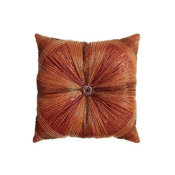 Pier 40 Imports Beaded Sunburst Pillow 40 Liked On Polyvore Classy Decorative Pillows Pier One