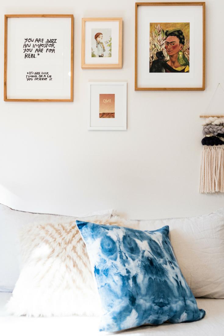 Modern bohemian home decor  For the Love of Indigo Belgian Linen and Natural Organic Linen