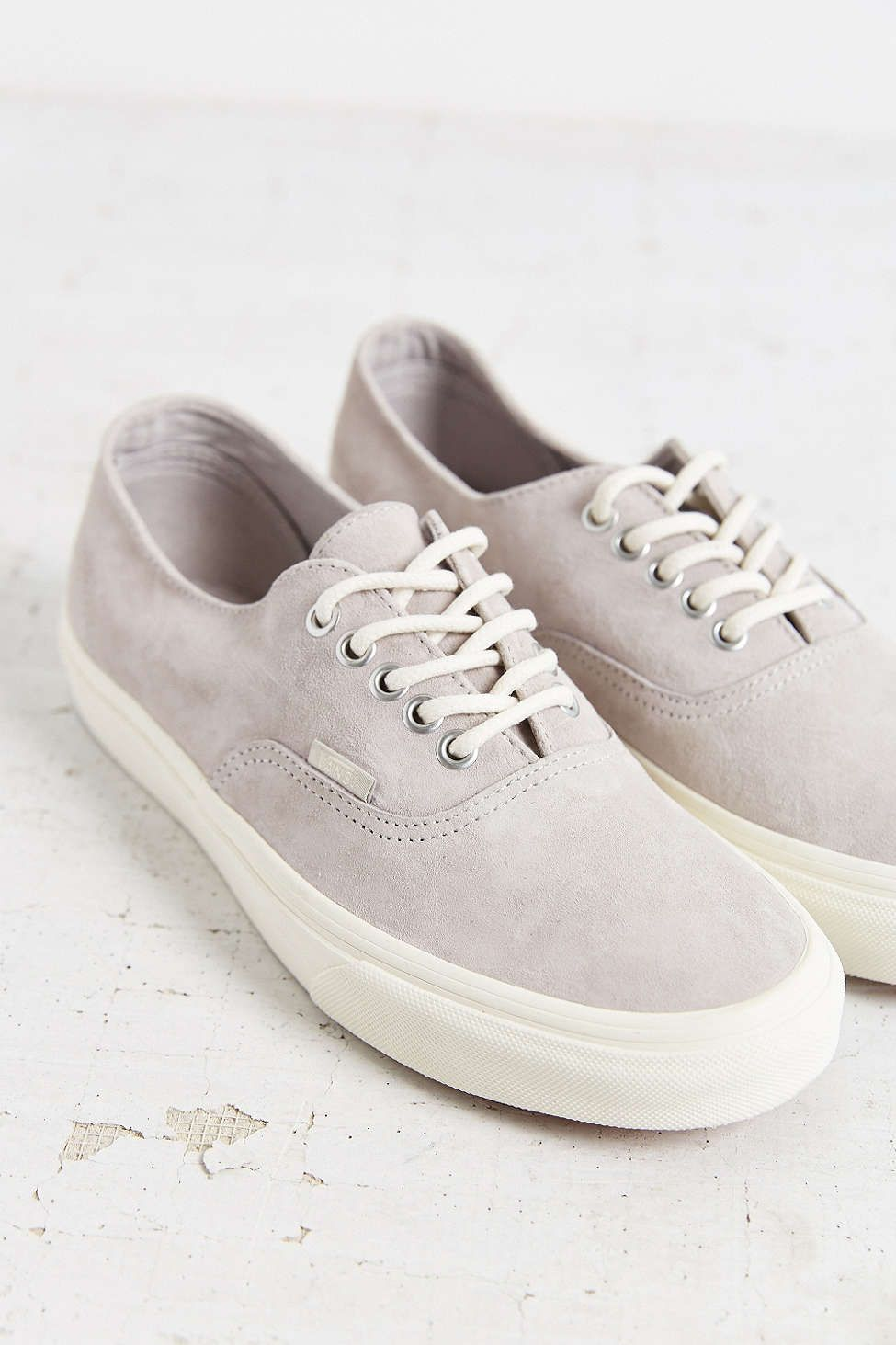 vans authentic decon grey plimsoll trainers