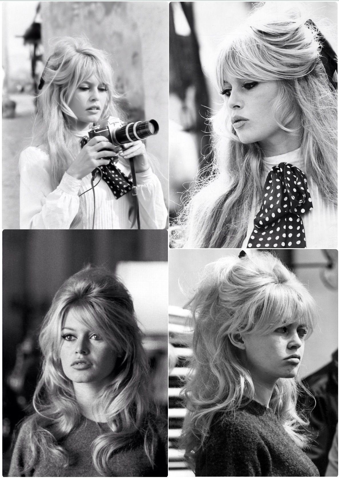 Brigitte Bardot S Hair Klassische Half Up Half Down Bouffant Brigitte Bardot S Hair Klassische Half In 2020 Hochzeit Frisuren Pony Frisur Lange Haare Pony 70s Haar
