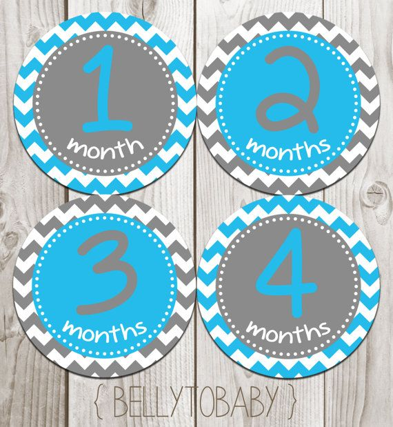 ON SALE Monthly Baby Milestone Stickers Baby by BellyToBabyDesigns, $8.00