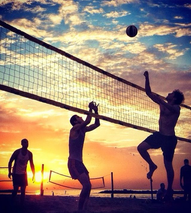 Beach Volleyball And A Beautiful Sunset Great Combo
