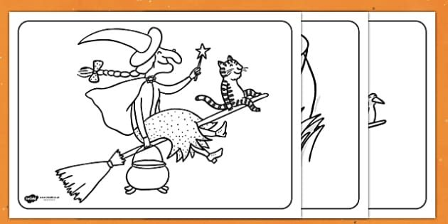Colouring Sheets To Support Teaching On Room On The Broom Room