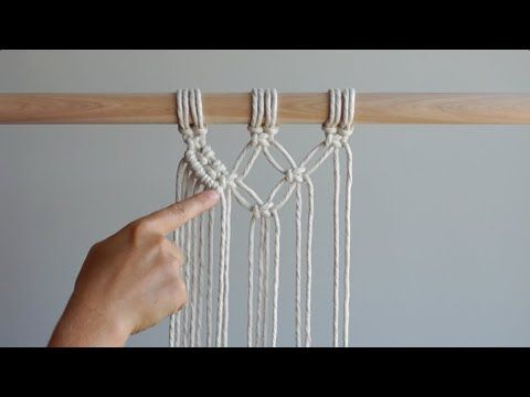DIY Macrame Tutorial: Double Half Hitch Knot - How to Prevent Warping/Keeping your Lines Straight! - YouTube
