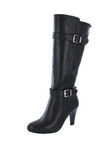 Rialto 'Monticello' Women's Boot                                 3 1/4 Heel Height, 12 6/8 Shaft Height, 13 3/8 Shaft Width                    Man Made Upper                    Double Buckle Boot
