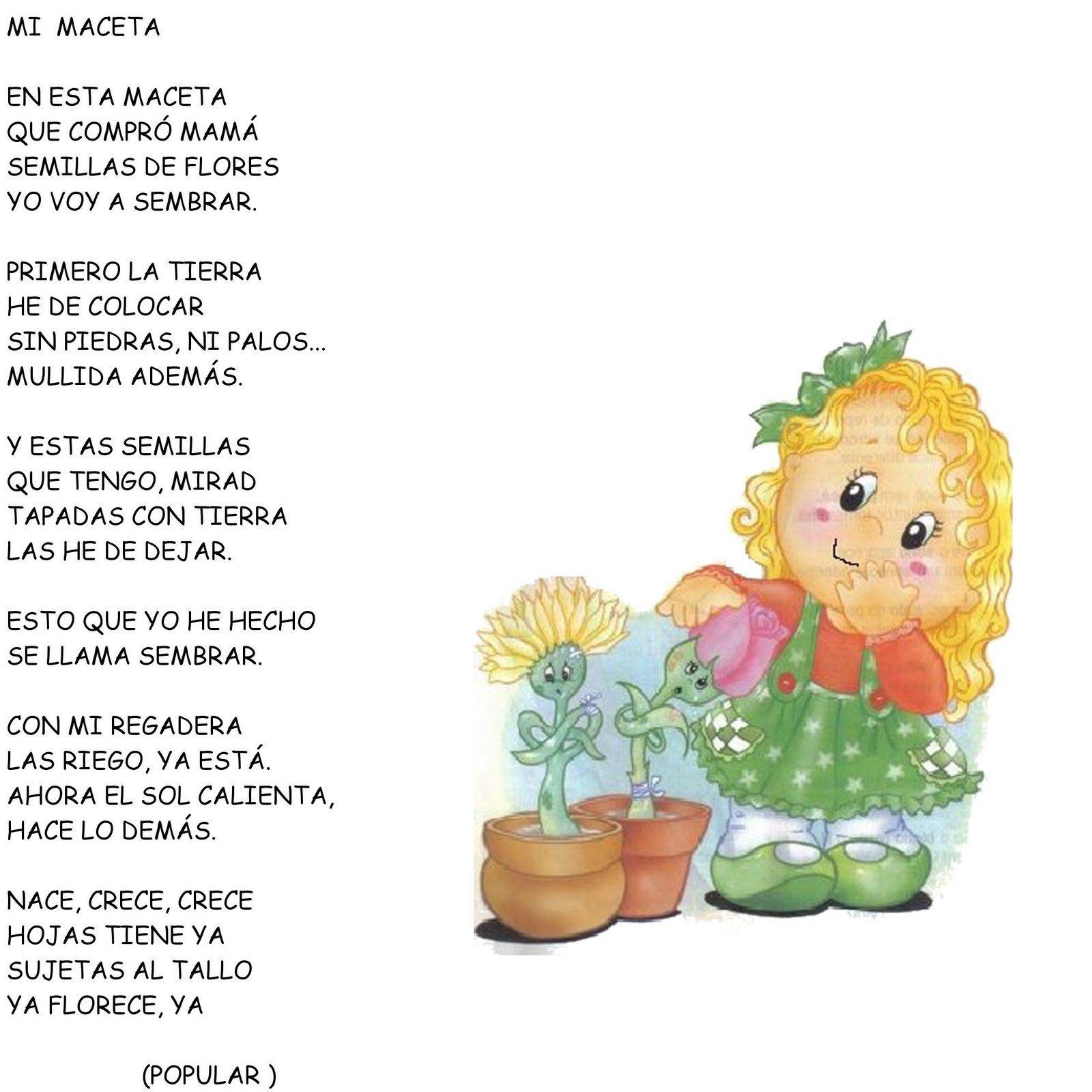 Poemas Canciones Para El Dia De La Madre Para Niños Pin De Frances Ruiz En Plantas Cuentos En 2020 Poemas Para Ninos