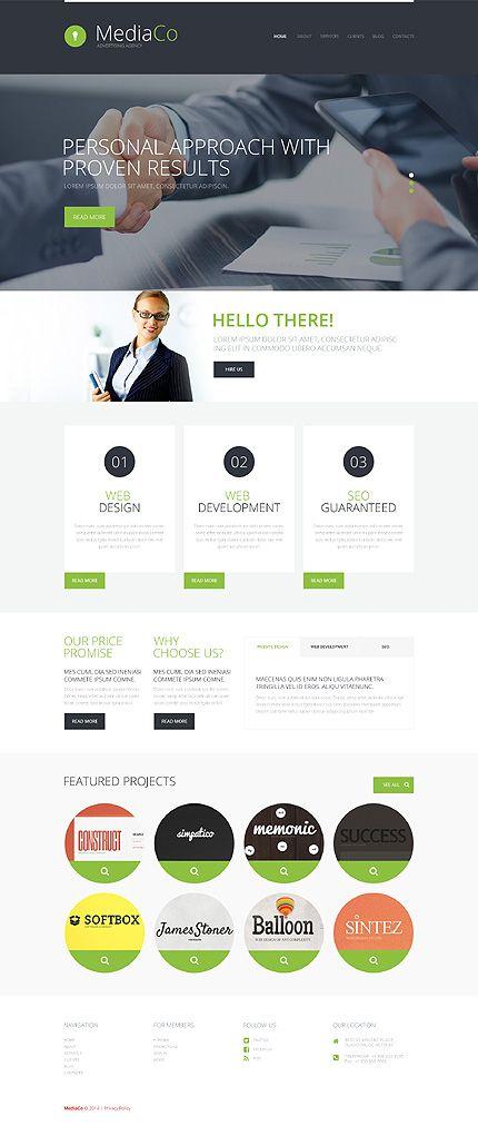 Advertising Agency WordPress Theme | Popular WordPress Themes ...