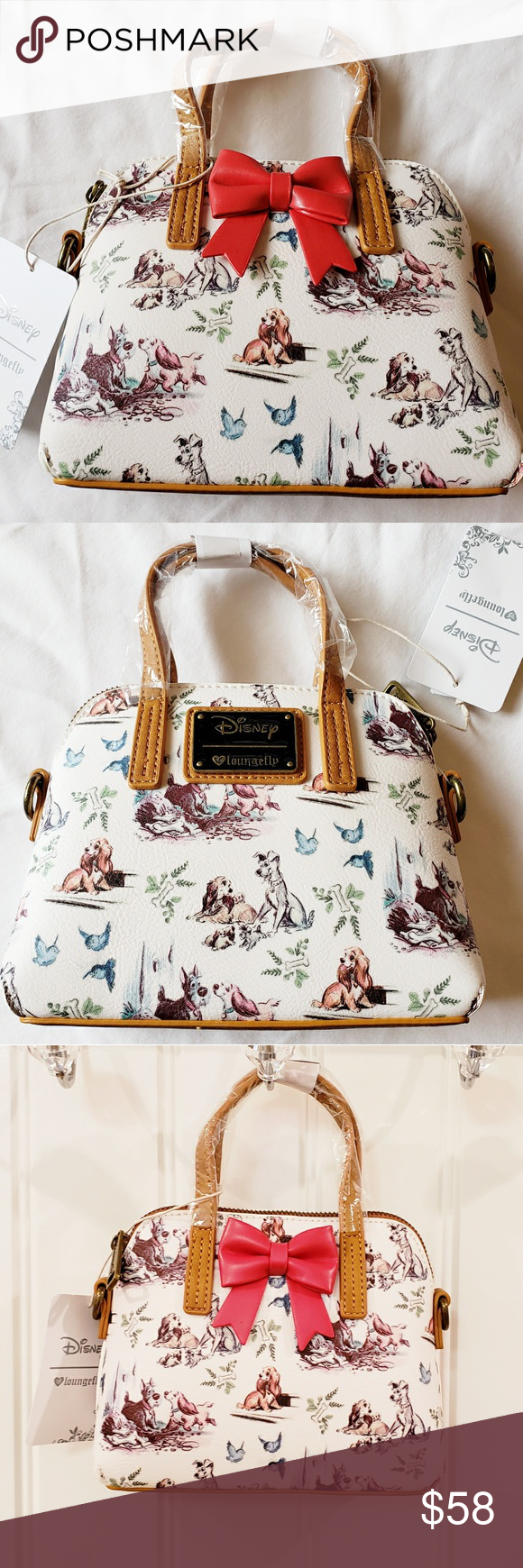 Disney Loungefly Lady And The Tramp Micro Mini Bag Mini Bag Faux Leather Bag Loungefly Bag