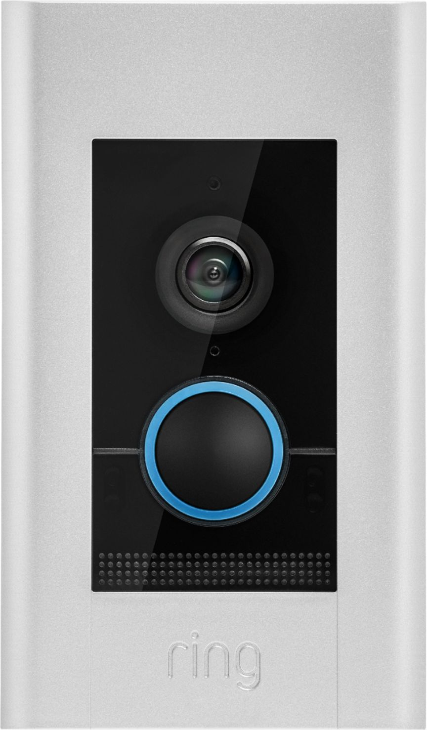 Shop Ring Video Doorbell Elite Satin Nickel at Best Buy