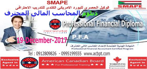 دبلومة المحاسب المالي المحترف Professional Financial Accountant Pfa Financial Accounting Job