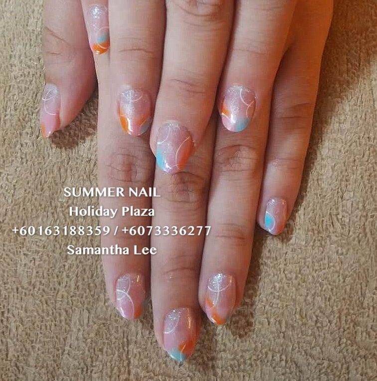 Summer Nail Holiday Plaza Mcdonald S Upstairs 3rd Floor 6073336277 Whatsapp 60163188359 Instagram Summernai With Images Artificial Nails Bridal Nails Summer Nails